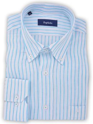ZegSlacks - %100 keten uzun kol spor gömlek (0838)