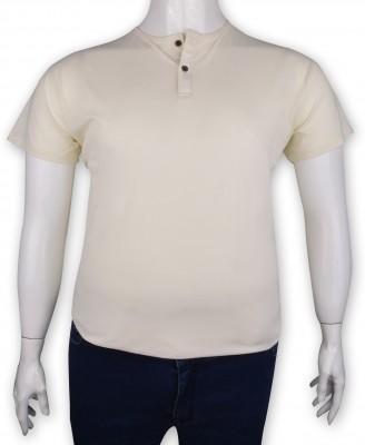 ZegSlacks - %100 Pamuk Penye Düğmeli T-shirt (1207)