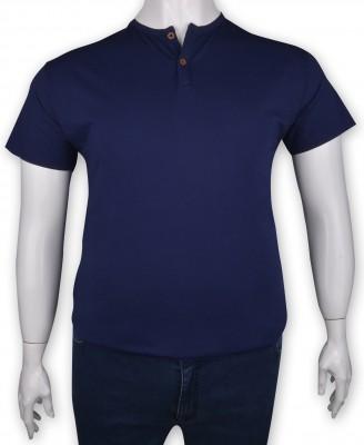 ZegSlacks - %100 Pamuk Penye Düğmeli T-shirt (1219)