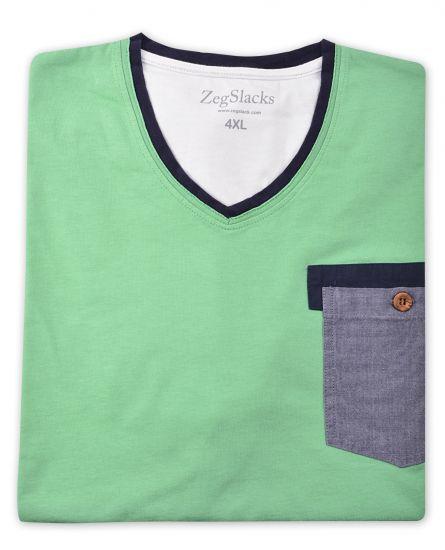 %100 Pamuk V Yaka T-shirt (1615)