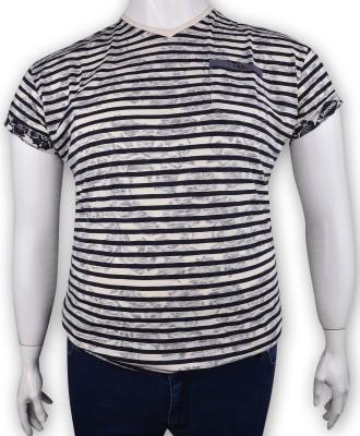 ZegSlacks - %100 Pamuk Baskılı V yaka t-shirt