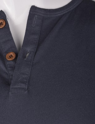 %100 Pamuk Penye Düğmeli T-shirt (2087) - Thumbnail