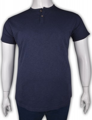 ZegSlacks - %100 Pamuk Penye Düğmeli T-shirt (2089)