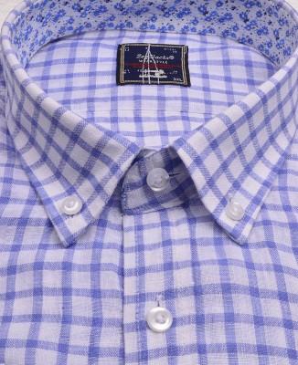 ZegSlacks - Yıkanmış Uzun Kol Saf Keten Gömlek (3710)
