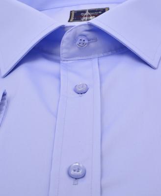 ZegSlacks - %100 Pamuk /Saten Klasik gömlek/mavi (gml2936)