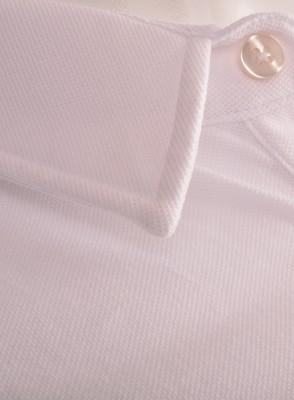ZegSlacks - İnce Polo Yaka Kısakol Pike Tshırt Beyaz (pyk4534)
