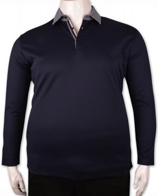 ZegSlacks - Lacivert Piquet Polo Yaka Sweatshirt (psw4345)