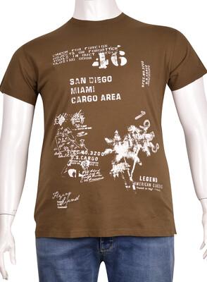 ZegSlacks - Sıfır Yaka Baskılı T-Shirt (BKT0308)
