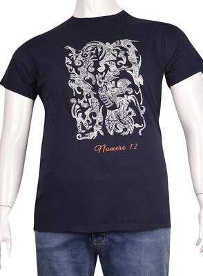 ZegSlacks - Sıfır Yaka Baskılı T-Shirt (BKT0316)