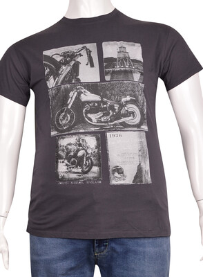 ZegSlacks - Sıfır Yaka Baskılı T-Shirt (BKT0322)
