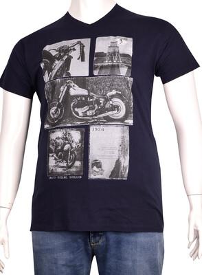 ZegSlacks - V Yaka Baskılı T-Shirt (BKT0282)