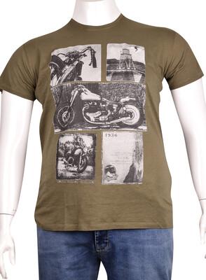 ZegSlacks - Sıfır Yaka Baskılı T-Shirt (BKT0286)